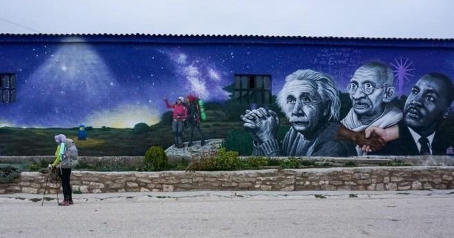 Murales artísticos en el camino de Santiago