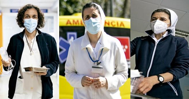 Sor Lourdes, sor Eva y sor Vicenta: tres enfermeras (e Hijas de la Caridad) en primera línea durante la pandemia