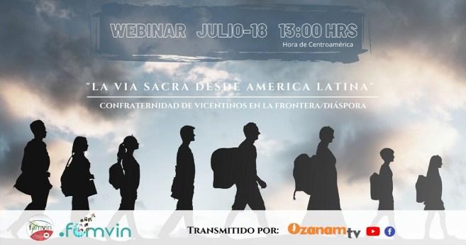 """Invitación al Webinar """"La Vía Sacra desde América Latina"""""""
