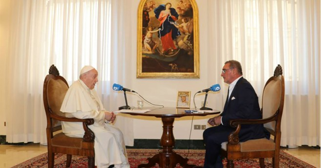 Entrevista de Carlos Herrera con el papa Francisco