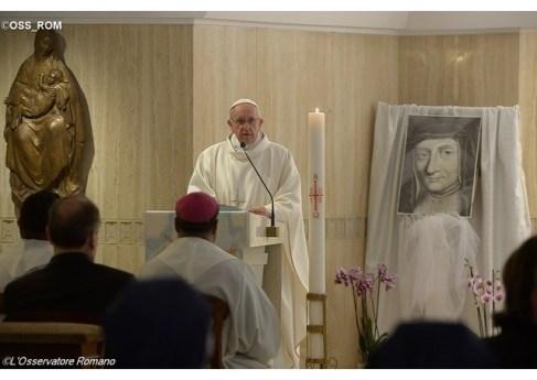 Le Pape a dédié une pensée spéciale aux sœurs de la Compagnie des Filles de la Charité, à l'occasion de la fête de Sainte Louise de Marillac