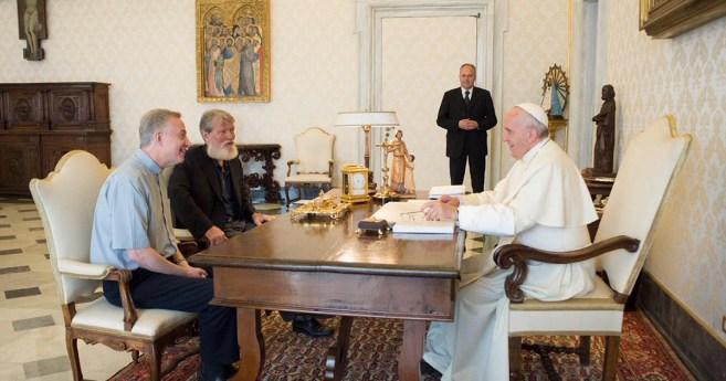Audience du Père Pedro Opeka, CM, avec le Pape François