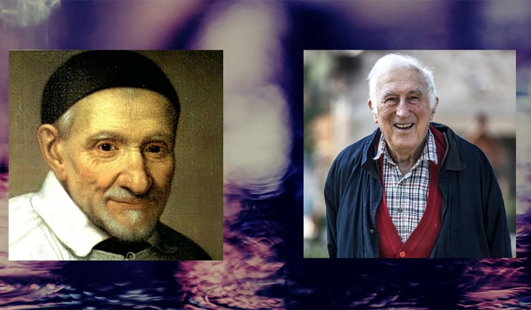 Deux géants des agents du changement : Jean Vanier et Vincent de Paul