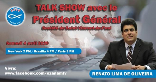 Ne manquez pas le 3e talk-show avec le Président général de la Société de Saint-Vincent-de-Paul!