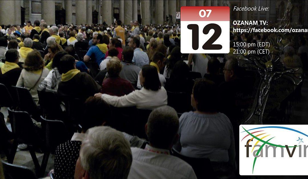 Mancano solo due giorni: 12 luglio, incontro di preghiera mondiale organizzato dalla Famiglia Vincenziana: vi aspettiamo!