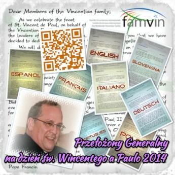 List O. Generała do Rodziny Wincentyńskiej na temat nowej ewangelizacji