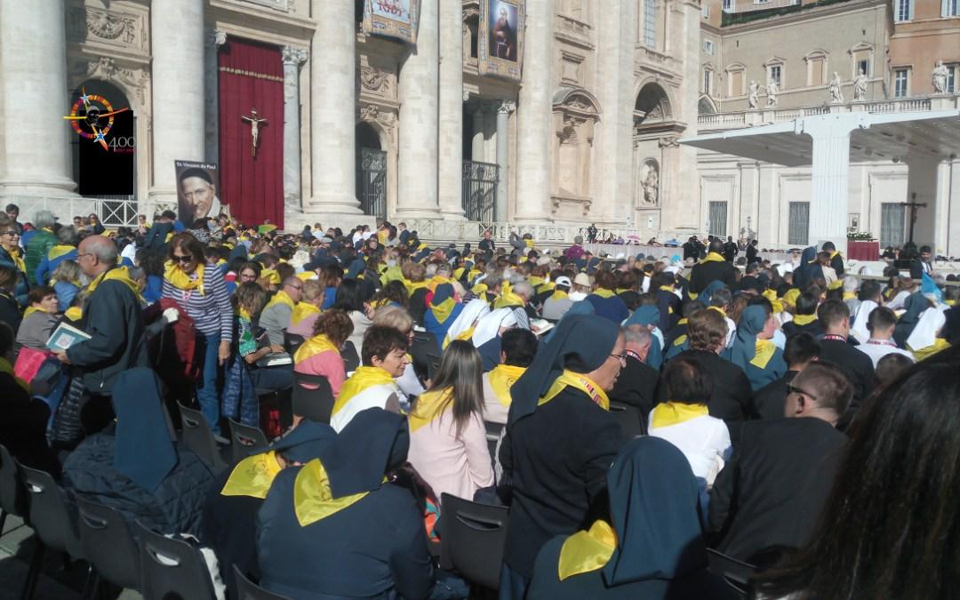 Spotkanie Rodziny Wincentyńskiej z Papieżem Franciszkiem [retransmisja wideo]