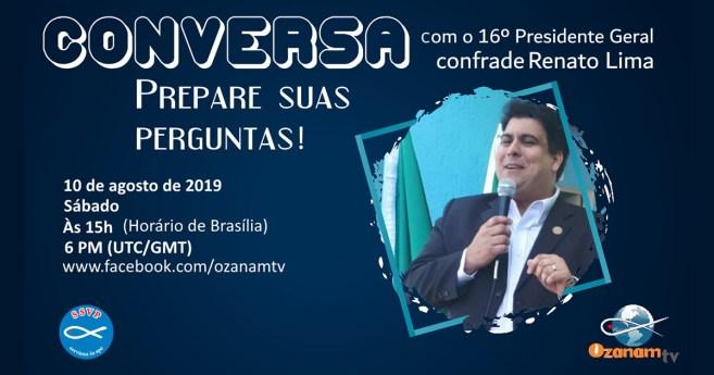Presidente Geral da SSVP responderá a perguntas dos vicentinos do mundo inteiro pelo Facebook, ao vivo