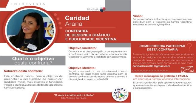Entrevista com Caridad Arana, coordenadora da Confraria de Designer Gráfico e Publicidade vicentina