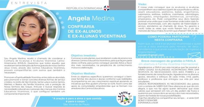 Entrevista com Angela Medina, coordenadora da Confraria de Ex-alunas e Ex-alunos Vicentinos Latino-Americanos