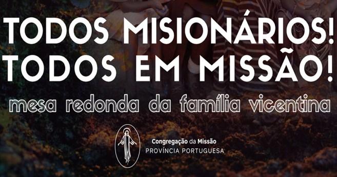 Mesa Redonda da Família Vicentina no próximo dia 31 de outubro