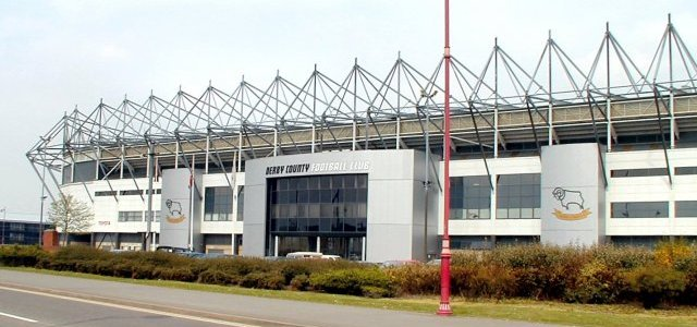 Pride Park, home of Derby County Football Club