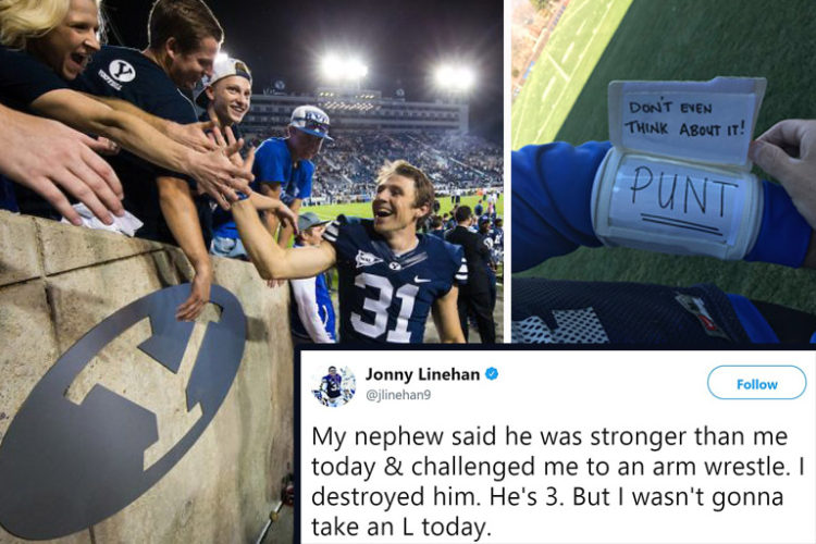 Byu Football The Best Tweets From Jonny Linehan The Most