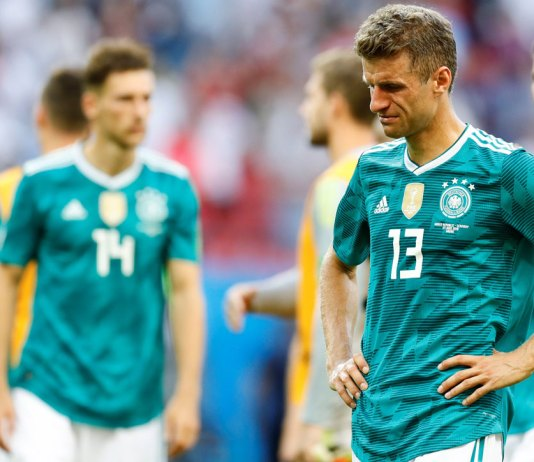 Germany falls 2-0 to South Korea, defending champions out of the World Cup.