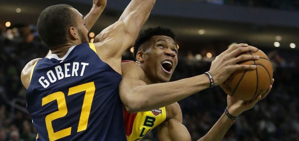 NBA: Giannis Antetokounmpo vs. Rudy Gobert