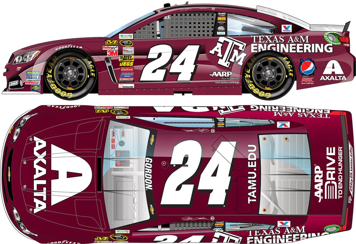Jeff Gordon Chevrolet >> Collegiate Paint Schemes in NASCAR's Sprint Cup Series | Fan4Racing Blog and Radio