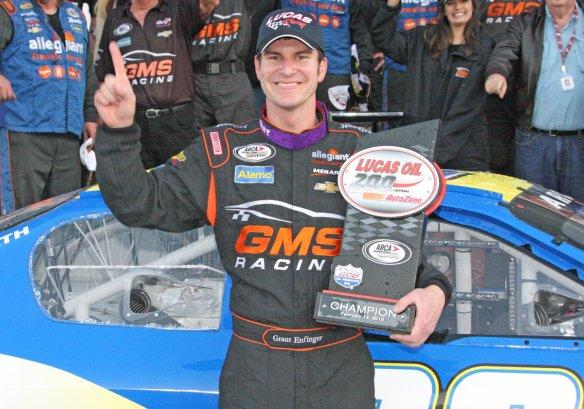 ARCA Racing Series, 2015 Daytona Winner, Grant Enfinger at 8:40 pm ET Photo - ARCARacingSeries.com