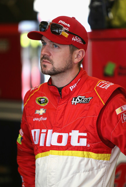 Michael Annett, driver of the #46 Pilot Flying J Chevrolet, stands in the garage area during practice for the NASCAR Sprint Cup Series AAA Texas 500 at Texas Motor Speedway on November 5, 2016 in Fort Worth, Texas. Photo - Jerry Markland/Getty Images