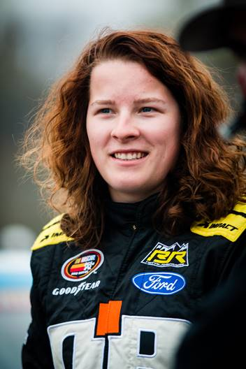 Dominique Van Wieringen, driver of the No. 02 Durobyte Ford F-150 for Rette Jones Racing (RJR) / Young's Motorsports in the NASCAR Camping World Truck Series (NCWTS).  Photo - Courtesy of RJR