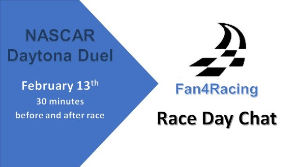 Fan4Racing NASCAR Race Day Chat promo