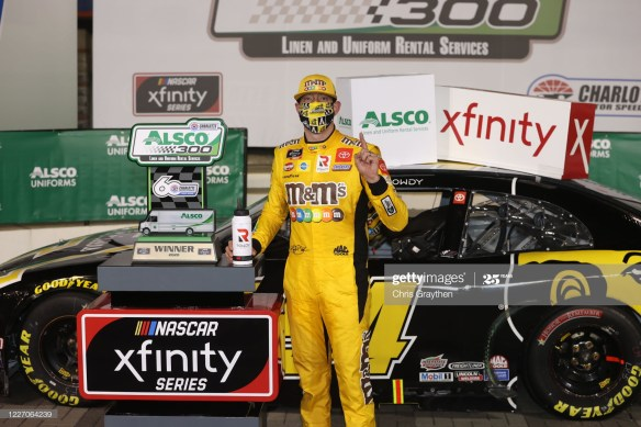 The Last Lap Pass on Memorial Day, Thrusts Kyle Busch Toward his Ninth NASCAR Xfinity Series Victory, at Charlotte Motor Speedway