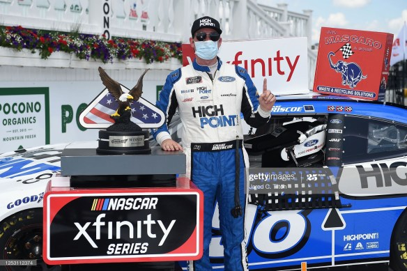 Chase Briscoe Rallies in Overtime for a NASCAR Xfinity Series Pocono Green 225 win for Stewart Haas Racing at Pocono Raceway on Sunday.