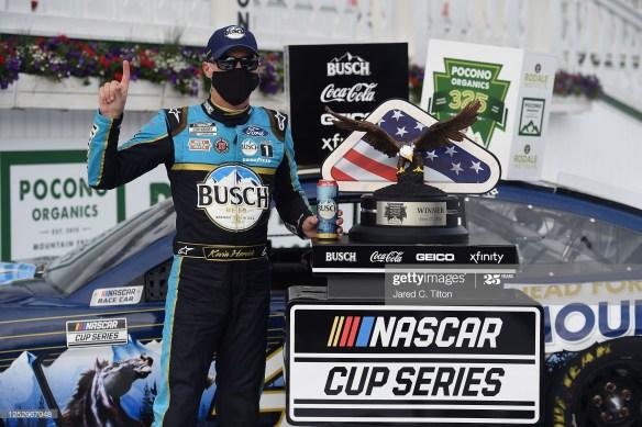 Harvick holds off Hamlin to win the NASCAR Cup Series Pocono Organics 325 at Pocono Raceway on Saturday afternoon.
