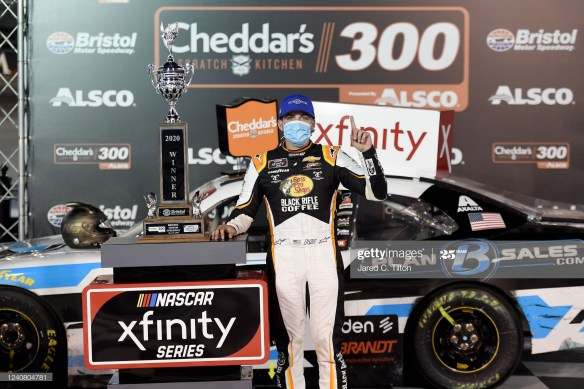It was a Bristol victory for Noah Gragson in the Cheddars 300 NASCAR Xfinity Series race at the half-mile oval.