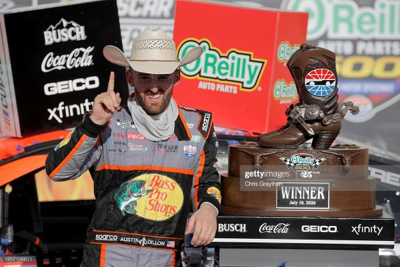 Austin Dillon Wins at Texas Motor Speedway in the NASCAR Cup Series O'Reilly Auto Parts 500 on Sunday, July 19th, leading a one-two finish for Richard Childress Racing.