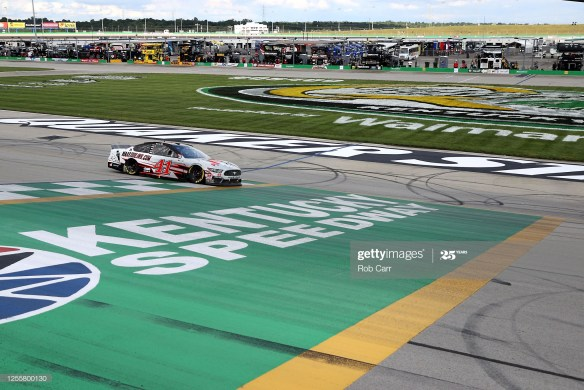 Cole Custer claims first Cup win in the Quaker State 400 presented by Walmart on Sunday afternoon, July 12th at Kentucky Speedway.