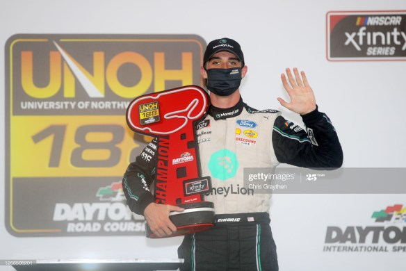 Austin Cindric makes history in the NASCAR Xfinity Series, UNOH 188 on Saturday afternoon on the Daytona Road Course.