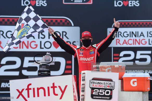 Allgaier sweeps Xfinity weekend in the Virginia is for Racing Lovers 250 on Saturday afternoon at Richmond Raceway in Virginia.
