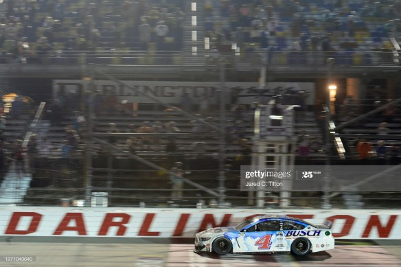 Kevin Harvick kicks-off playoffs with a victory in the NASCAR Cup Series Cook Out Southern 500 on Saturday, September 6th at Darlington Raceway.