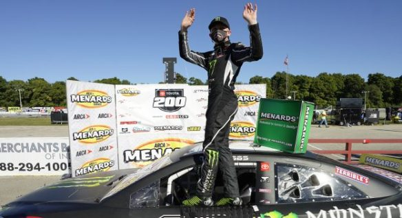 Ty Gibbs' Winchester win is nearly flawless for the ARCA Menards Series Toyota 200 on Saturday at Winchester Speedway in Indiana.