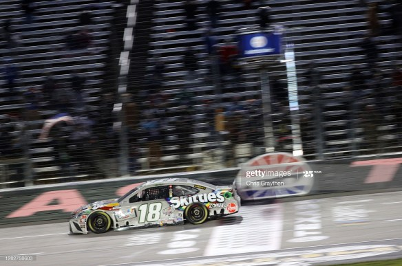 Kyle Busch finally finds victory lane in the NASCAR Cup Series Autotrader EchoPark Automotive 500 on Wednesday night at Texas Motor Speedway.