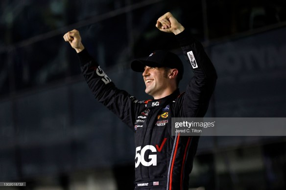 Cindric, who locked up the Xfinity title by winning in his last outing at Phoenix Raceway in November, picked up his first victory on the 2.5-mile Daytona oval and the ninth of his career in the No. 22 Team Penske Ford.