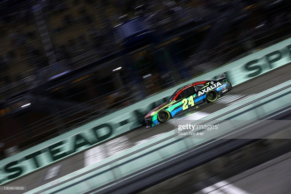 William Byron earns his first win of the season in the NASCAR Cup Series Dixie Vodka 400 at Homestead Miami Speedway on Sunday night.