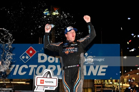 Sheldon Creed wins the playoff opener at WWT Raceway at Gateway on Friday night in the NASCAR Camping World Truck Series.