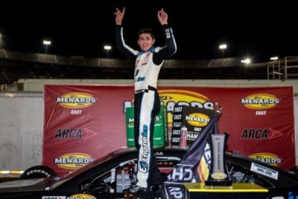 Ty Gibbs earns a Victory while Sammy Smith takes the ARCA East championship at Bristol Motor Speedway in the Bush's Beans 200 on Thursday.