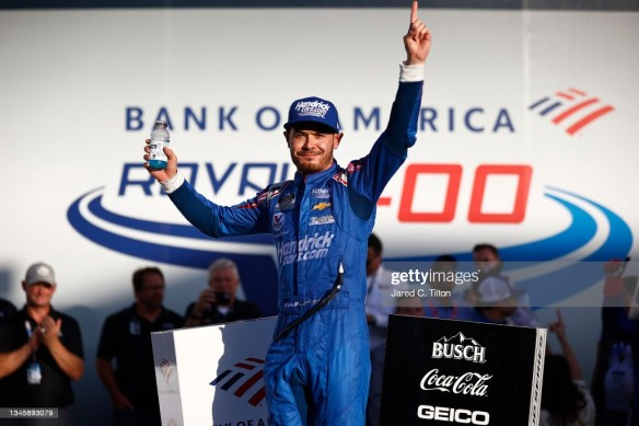 Kyle Larson overcomes adversity to Win at Charlotte Roval in the NASCAR Cup Series Bank of America Roval 400 on Sunday afternoon.