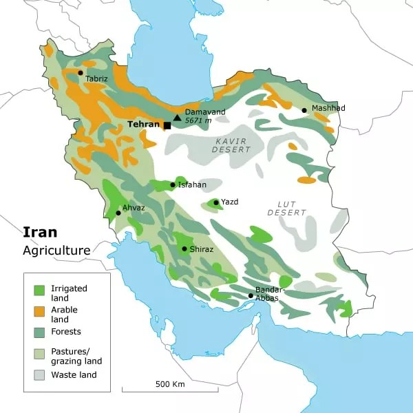 Geography of Iran Chronicle Fanackcom