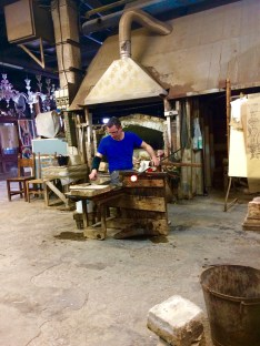Glassblåsing på Murano