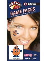 W-CJ-66_Fr - Syracuse University (SU) Orange - Waterless Peel & Stick Temporary Spirit Tattoos - 4-Piece - Otto Orange Logo
