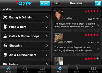 Qype iphone app review