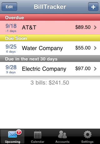 bill tracker iphone app review