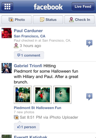 facebook iphone app review