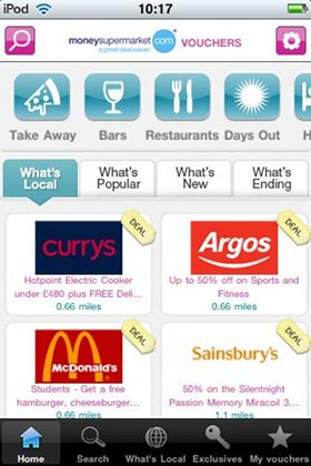 money supermarket voucher iphone app review