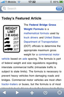 Wikipedia Mobile iphone app review
