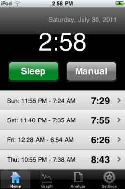 Sleep Tracker iPhone App Review