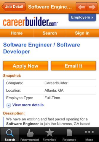 Chances of Landing a Job Apps